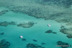 Das Great Barrier Reef von oben